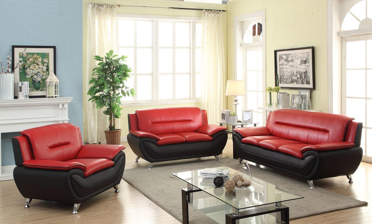 3095 PU Modern Sofa