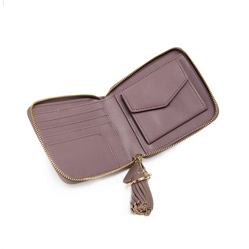 Elegant Coin Purse Card Holder Ladies PU Tassel Wallet Wzx1107