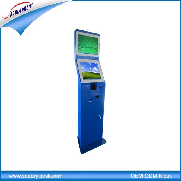 Dual Screen Lobby Standing Self-Service Payment Terminal Kiosk