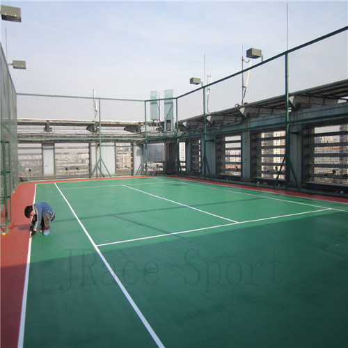 Rubber Synthetic Itf High Quality Tennis Court Flooring
