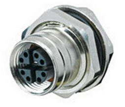 M12 X-Coding Panel Side Connector