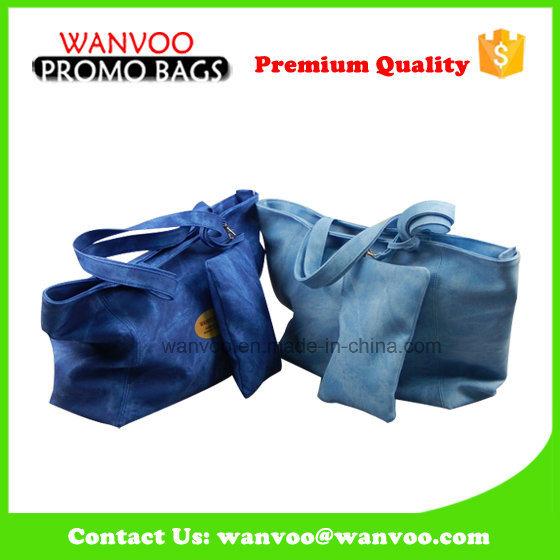 Fashion Promotion Tote Lady Women Leather PU Handbag