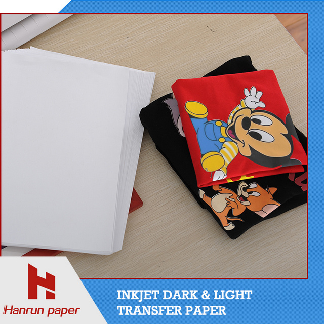 High Quality PU Coating Layer, Dark T-Shirt Heat Transfer Paper Easy Cutting for 100% Cotton Fabric
