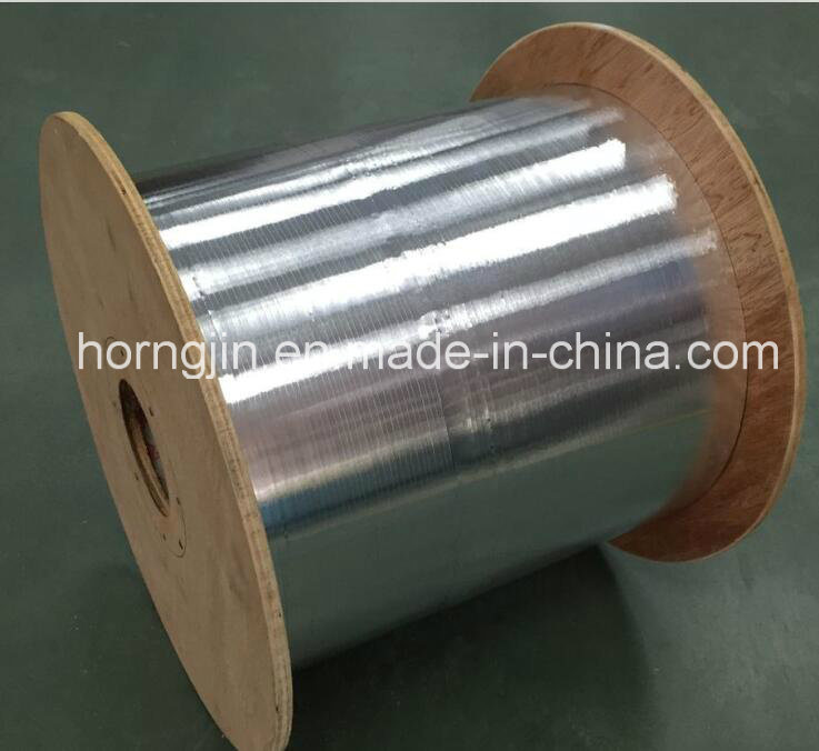 High Aluminum Foil and Adheisive Pet Film Coated in Roll for Cable Shielding