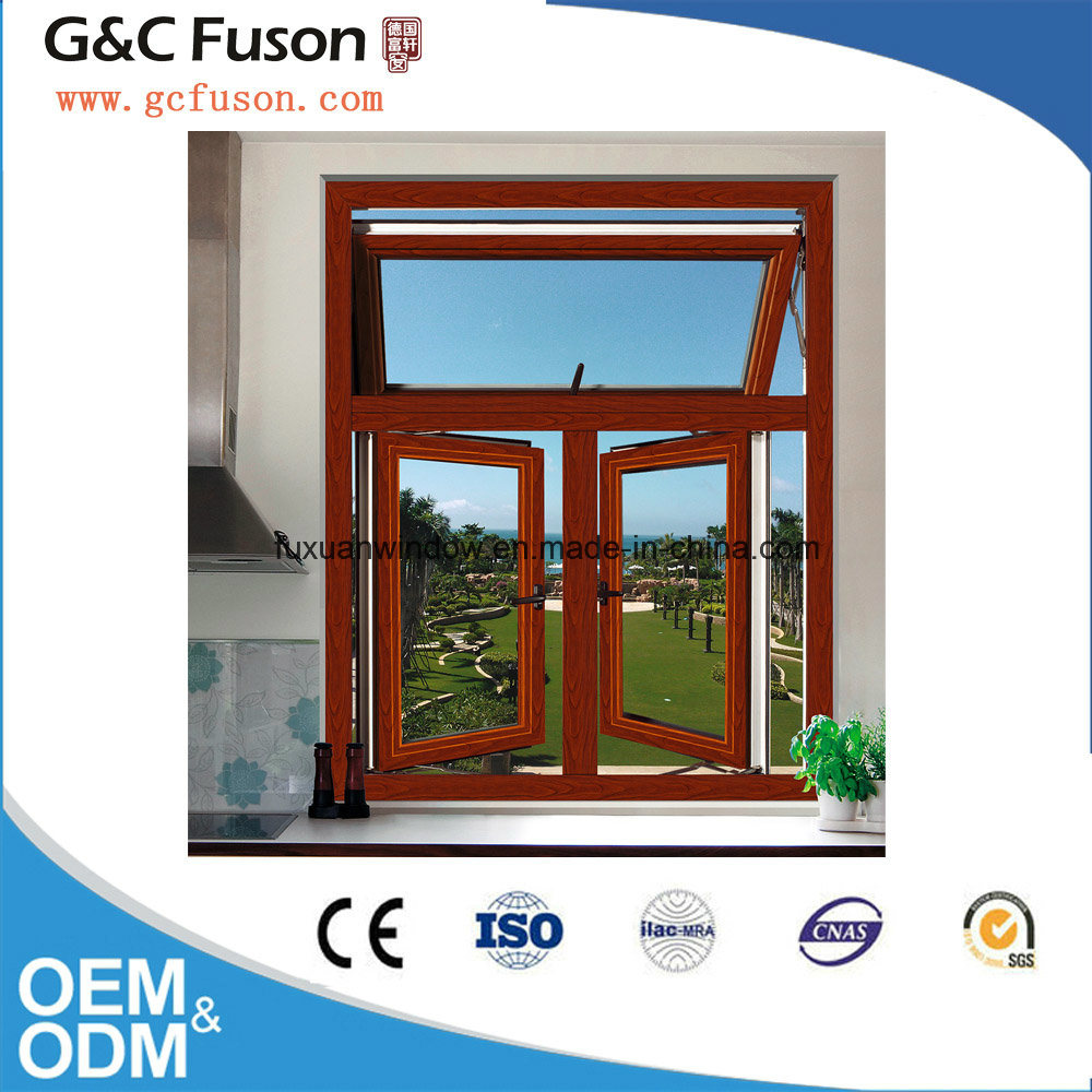 Sound and Heat Resistant Double Glazing Aluminium Opening Windows