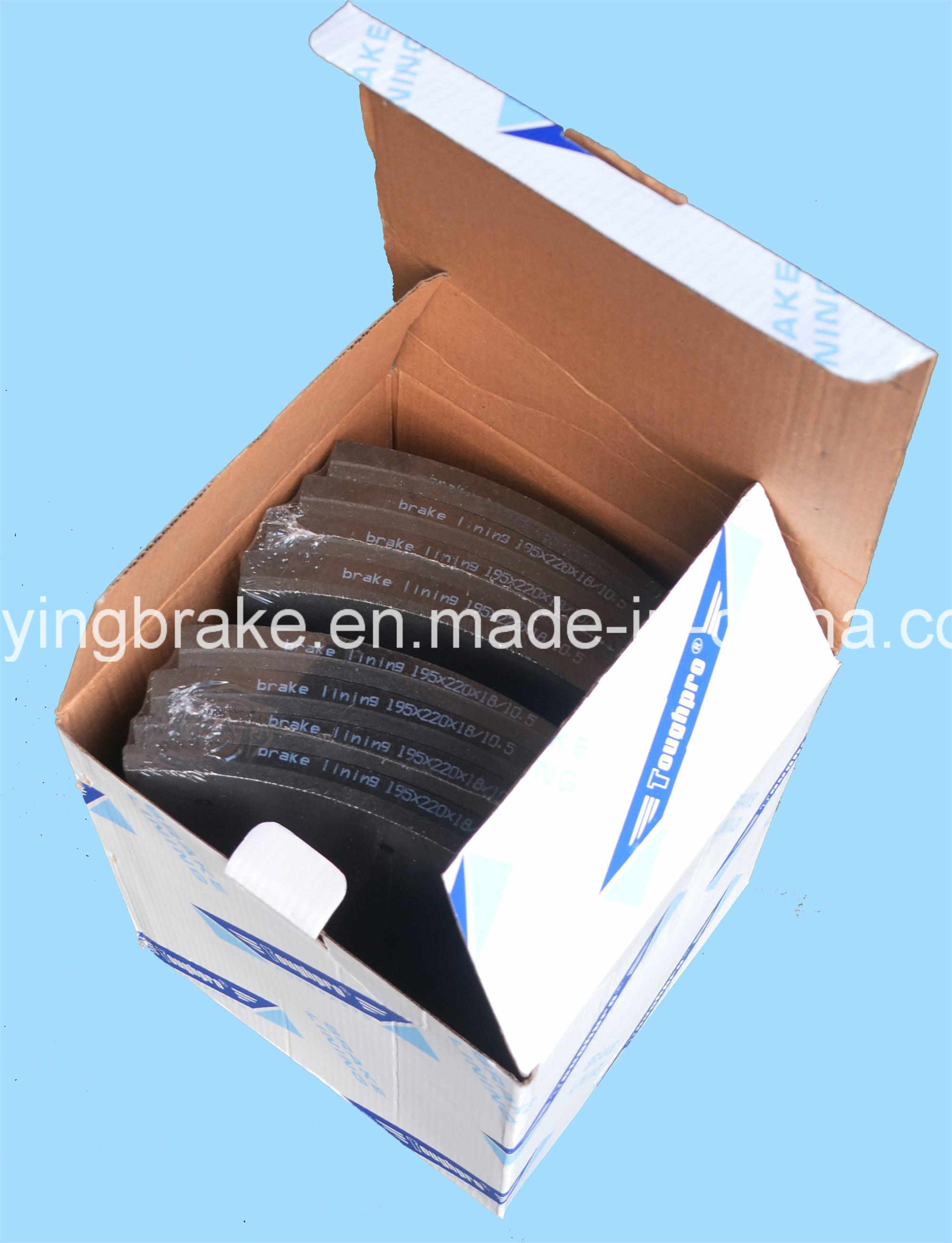 Brake Lining (WVA 19580 BFMC: MB/74/75/1 FMSI: 4656) for European Truck Benz
