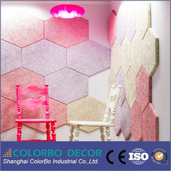 Sound Absorption Wood Fiber Wool Acoustic Ceiling Panel