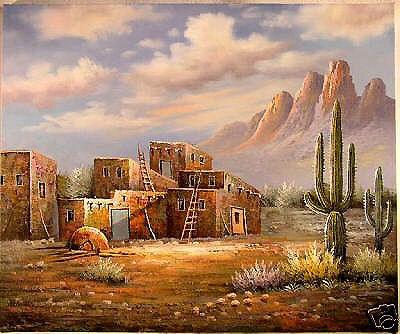 House Cloud Impressionist Landscape Paintings (LH-338000)