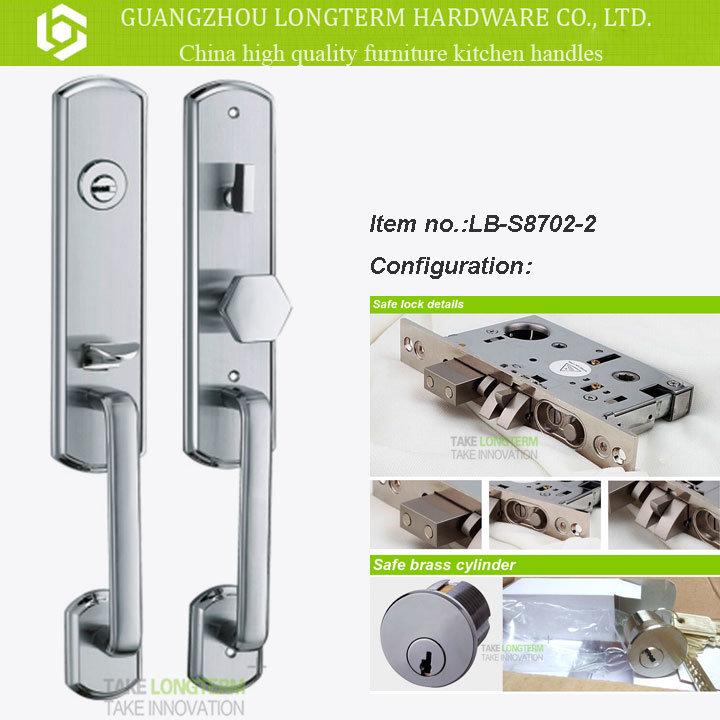 Luxurious 304 Stainless Steel Home Security Door Lock Lockset