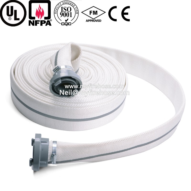 1 Inch Canvas Flexible Fire Sprinkler Hose EPDM Pipe Price