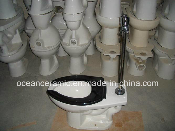 Amercial Standard Ceramic Siphonic Flush Valve Water Closet (No. 857)
