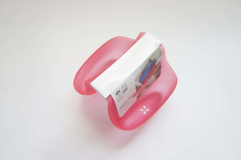 Kitchen Saddle Sink Caddy Sponge Holder for Scrubbers, Sponges-Plastic