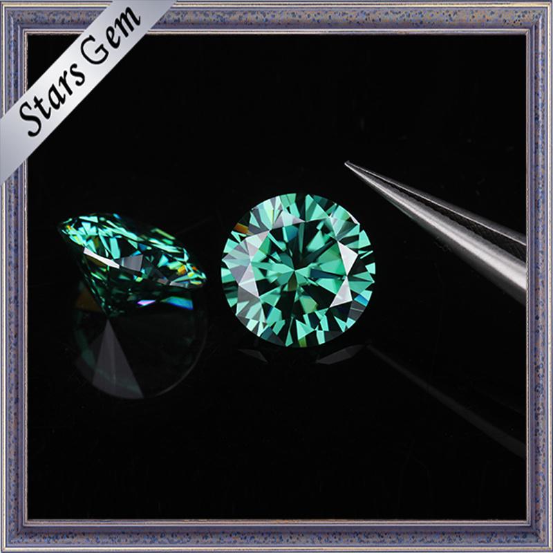 1 Carat 6.5mm Green Color Moissanite Diamond