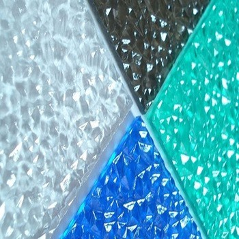 Big Diamond Embossed Polycarbonate Sheet for Indoor Decoration