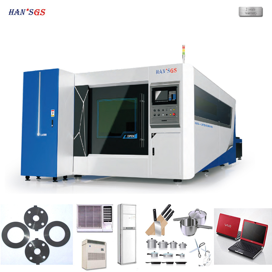 CNC Laser Cutter, Fiber Laser Cutting Machine for Stainless Steel, Carbon