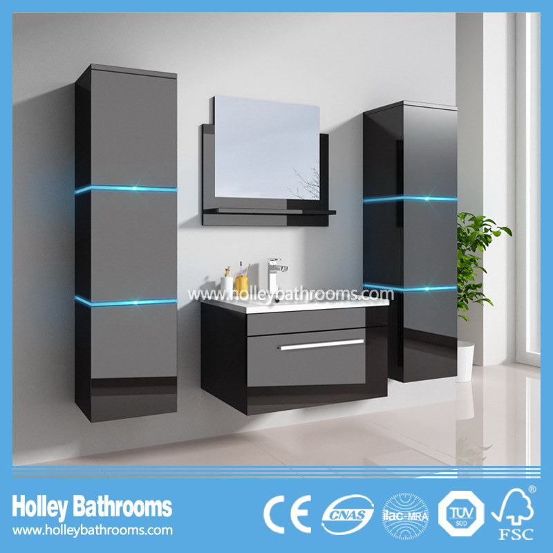The New LED Light Touch Switch High-Gloss Paint Sanitary Ware-B798d