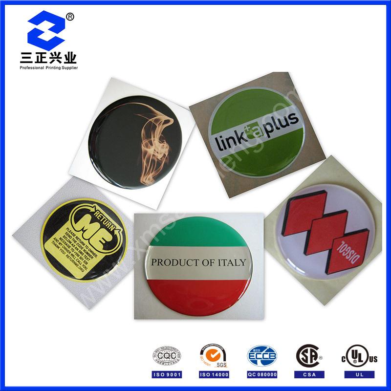UV Resistant Epoxy PU Resin Dome Stickers