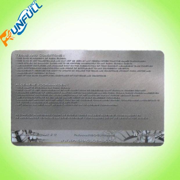 2017 New Design Transparent PVC Card