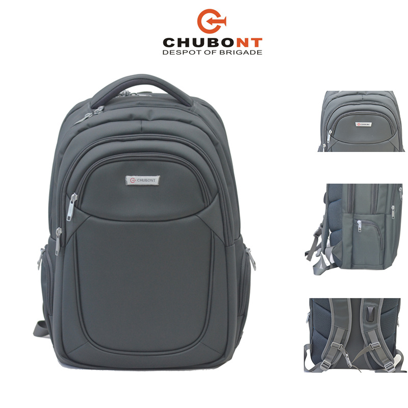 Chubont Padded Laptop Bag Double Shoulder Backpack with Earphone Slot