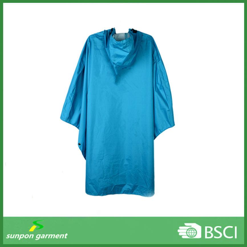Polyester or Nylon Fabric with PU Coating Rain Coat