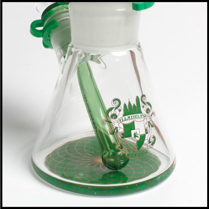 Hfy Glass Glass Smoking Pipes Illadelph Mini Freezable Coil 7mm Beaker Hookah in Stock