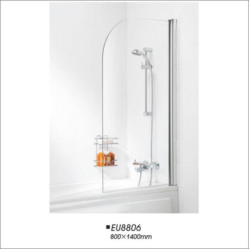 Bathtub Axis Pivot Single Bath Shower Screen