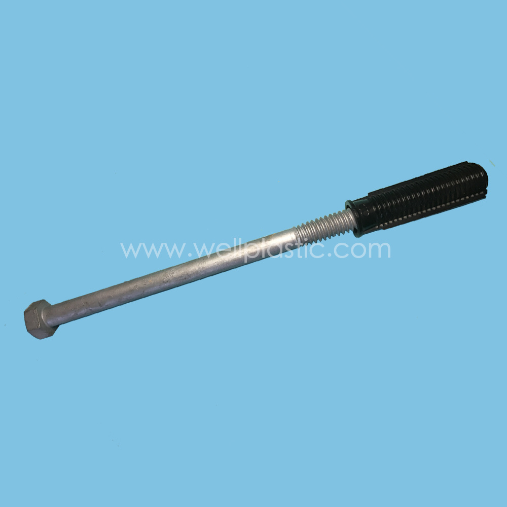 Plastic Bolt Socket with Hex Head Bolt HDG