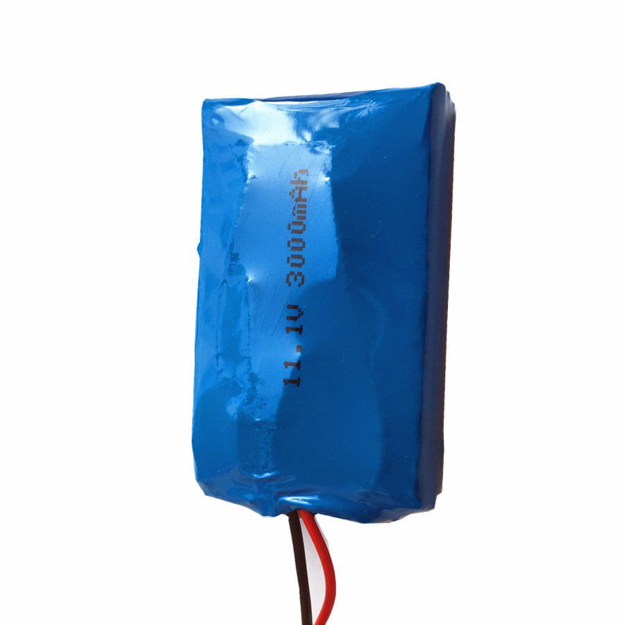 503759pl 11.1V or 12V 3000mAh Rechargeable Battery Pack with PCM and Wires,