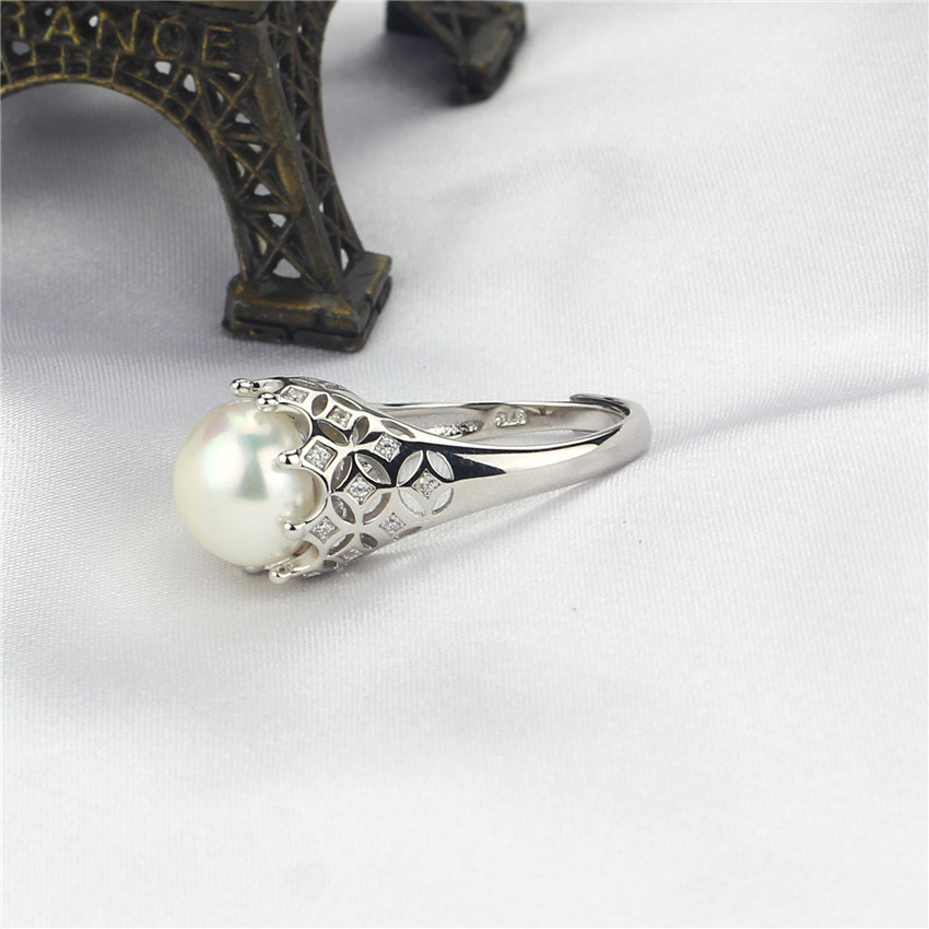 11-12mm AAA Grade 925 Sterling Silver Cultured Freshwater Pearl Ring Design