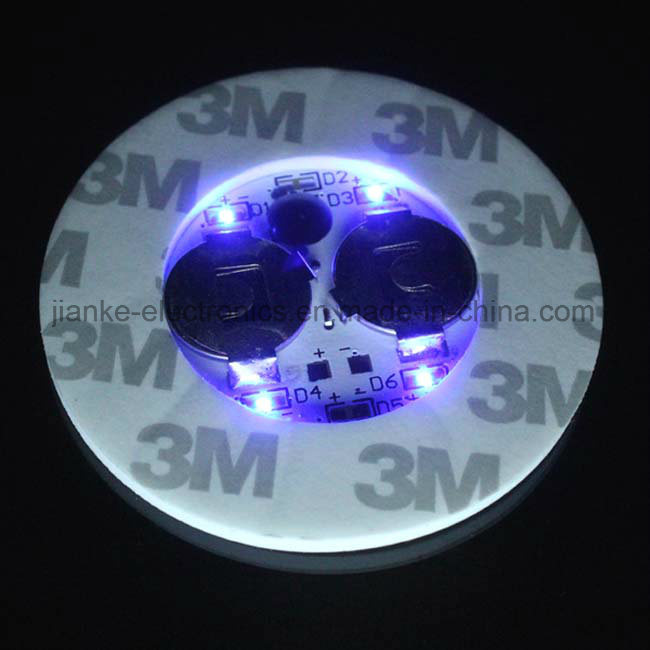 Colorful LED Bottle Lights Sticker with Logo Printed (4040)