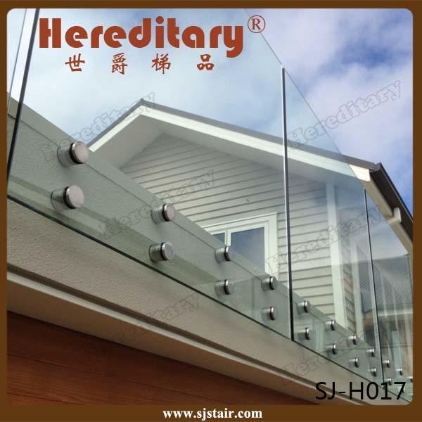 Exterior Aluminum U Channel Frameless Glass Railing for Balcony (SJ-X1072)