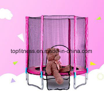 Round Big Trampoline with Enclosure for Children