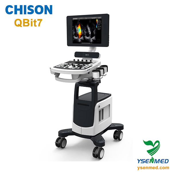 Chison Qbit7 Diagnostic Mobile Trolley Color Doppler Ultrasound Machine