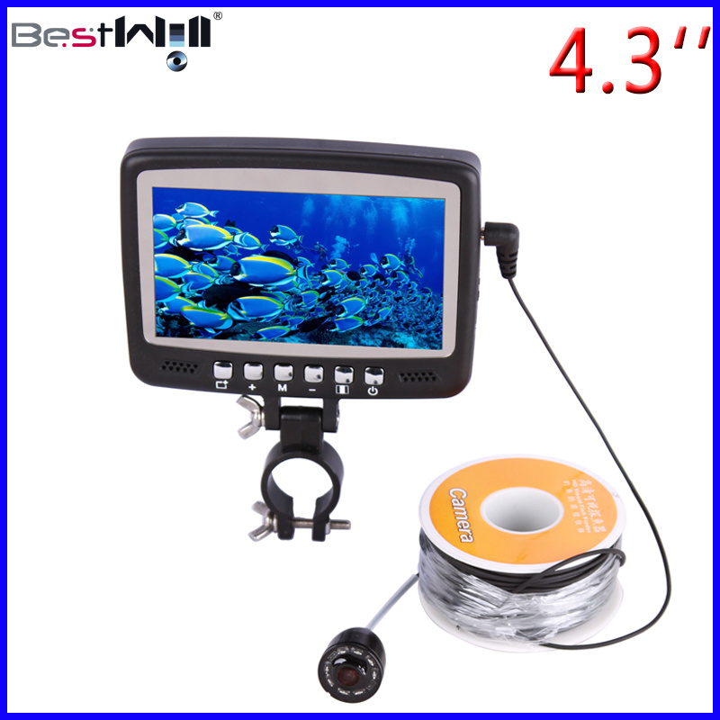 4.3′′ Digital LCD Screen HD 1000 TVL Underwater Fishing Camera Ice Fishing Camera CR110-7HB with 15-30m Strong Cable