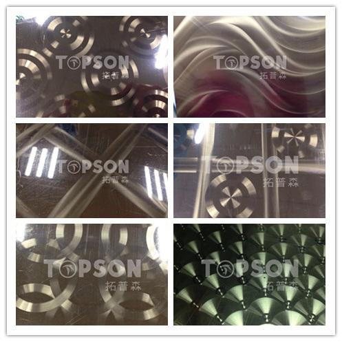Stainless Steel Sheet Circular Brushed Finish Decorative