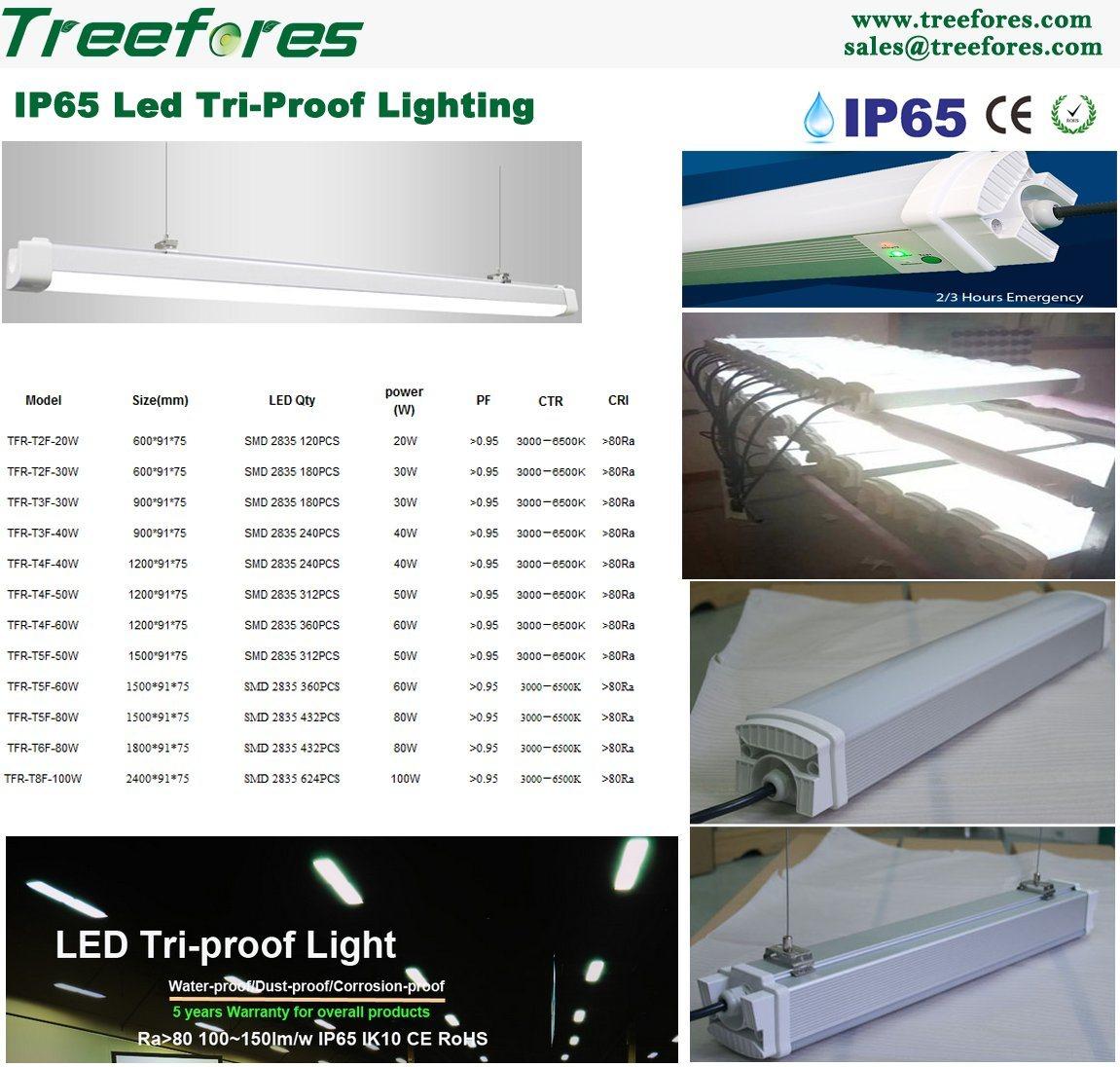 IP65 T8 60W 4FT 1200mm LED Tube Lamp LED Tri-Proof Light
