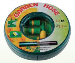 15m 1/2 PVC Hose with Hose Nozzle Set