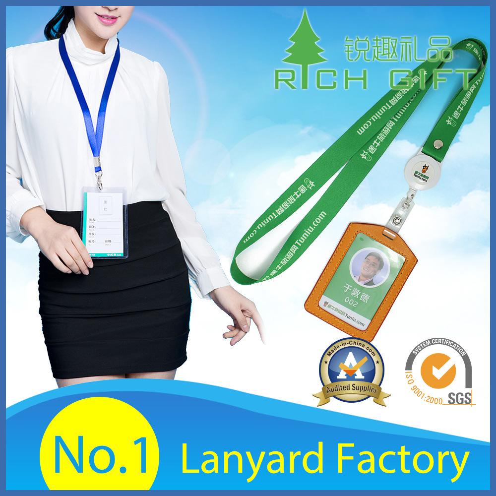 Cheap Wholesale Custom Logo Neck Strap Polyester Woven Nylon Printing Sublimation Ribbon Heat Transfer ID Card Holder Lanyards for Promotion Gift No Minimum