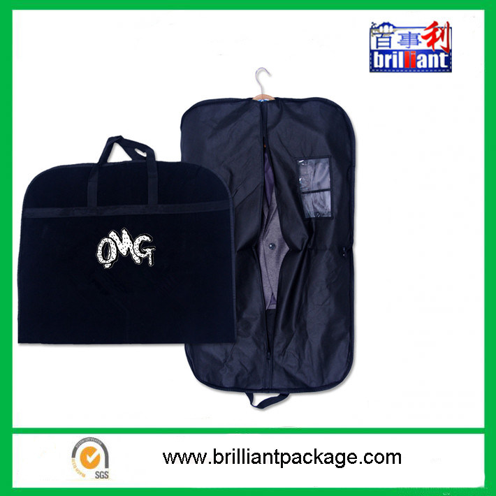 Non Woven Suit Cover with Zipper Tote Bag