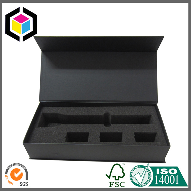Rigid Collapsible Cardboard Paper Gift Box with Inside Printing