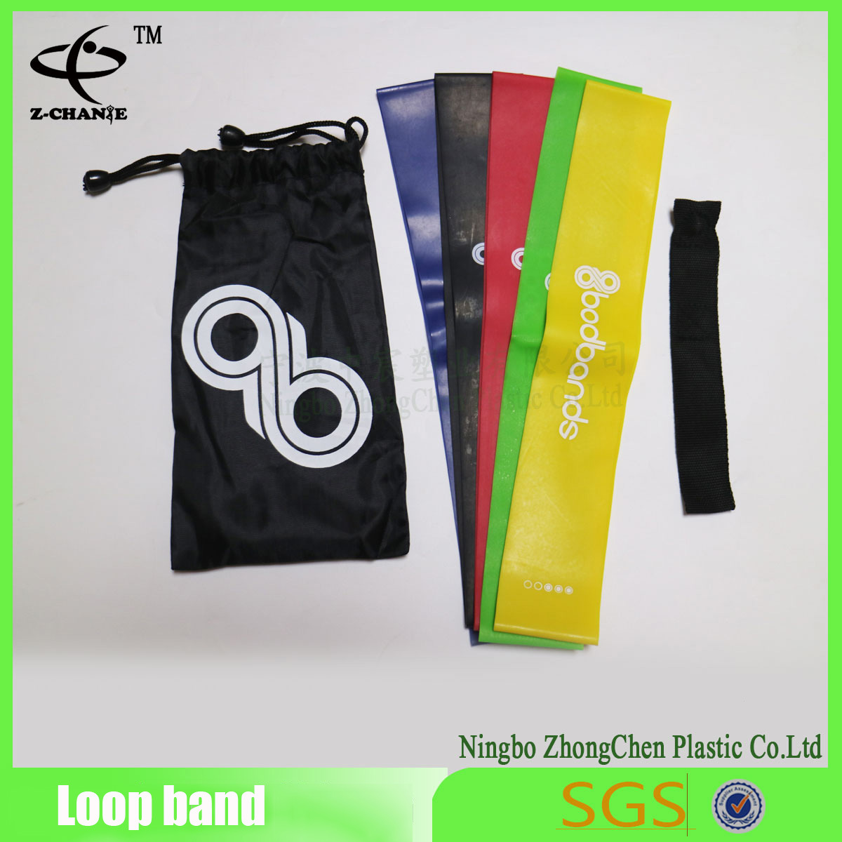 Power Flat Yoga Belt Customized Sport Exercise Loop Resistance Bands
