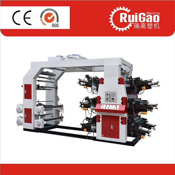 High Speed 6 Colors Paper Flexo Printing Machine for Plastic Bag