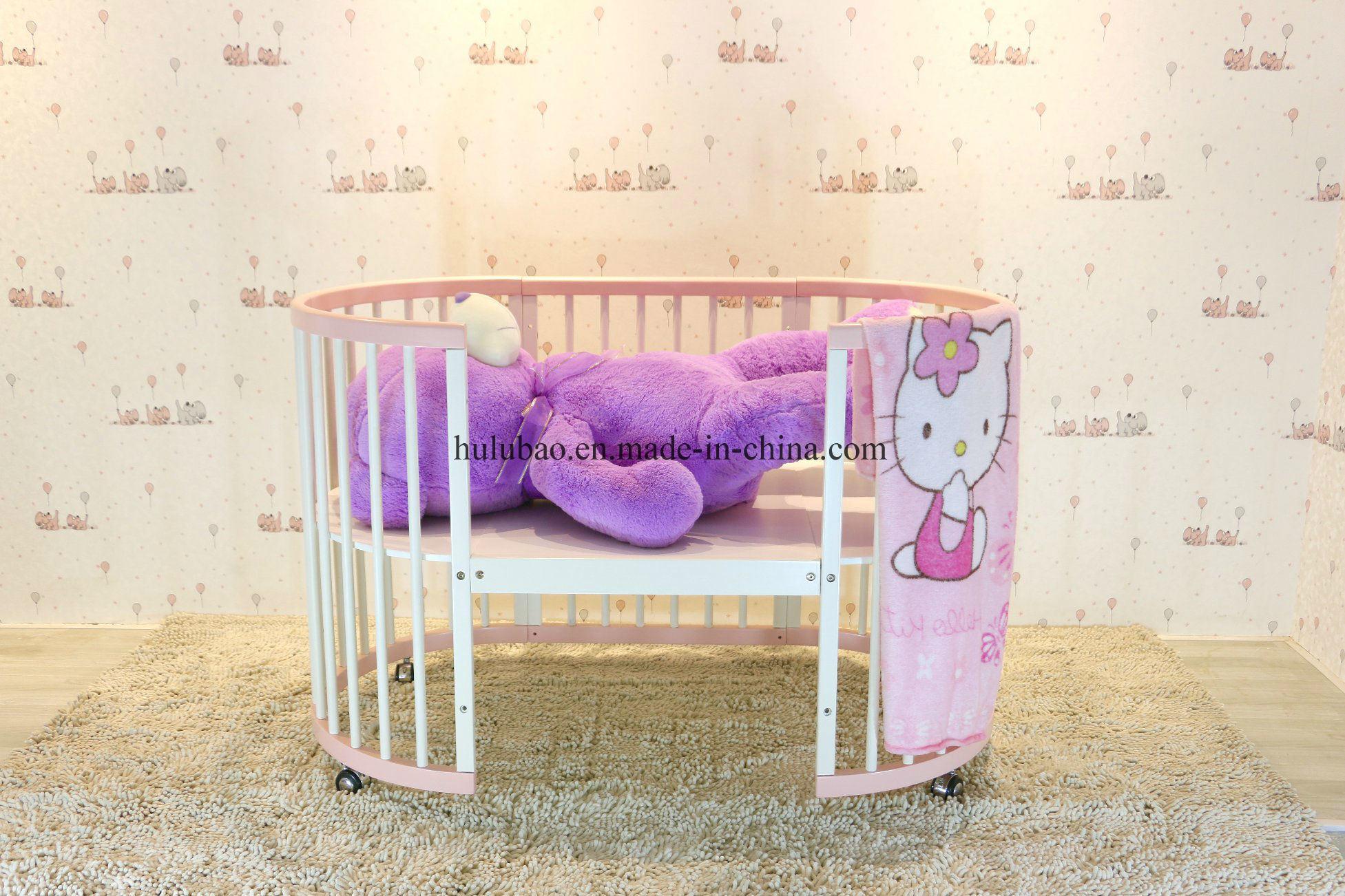 Baby Furntiure Children Furntire Wood Metal Convertible Crib Convertible Cot Round Crib