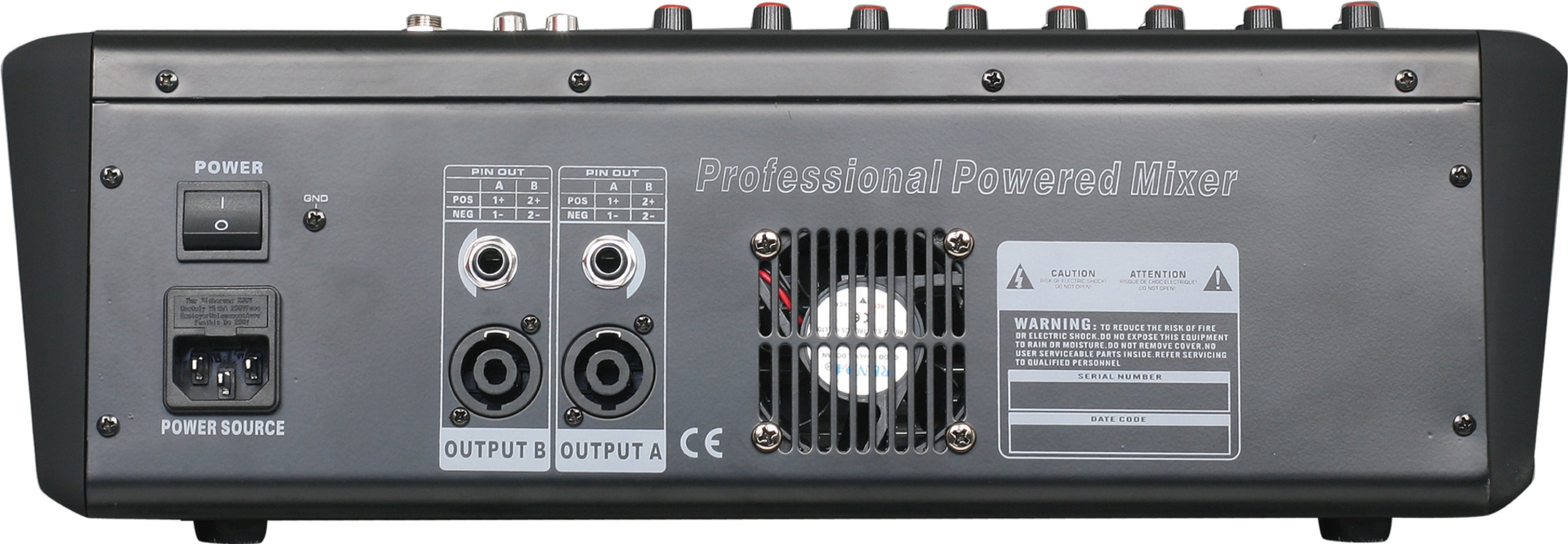 Special New Design Powered Mixer Am-Q8p Series Professional Amplifier