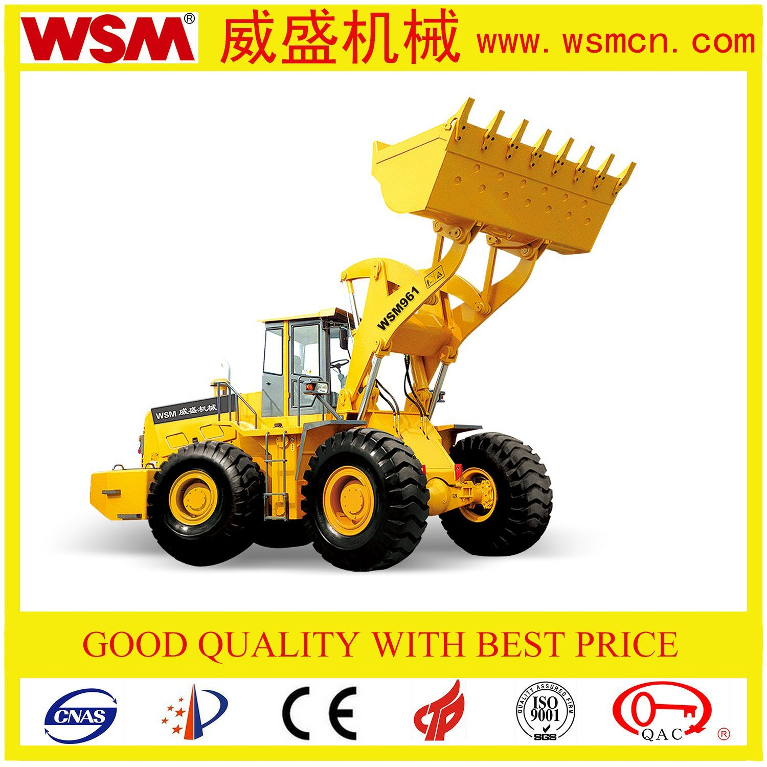 6 Tons Wheel Excavator with Bucket 3.4m3 for Carrying Macadam with Ce Certificate
