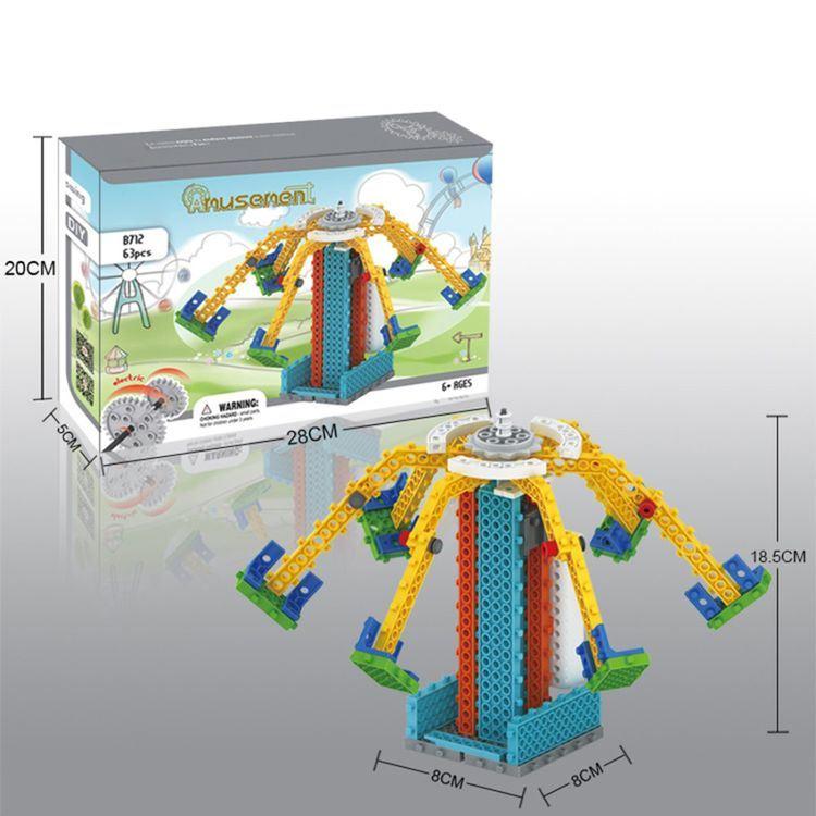 1488712-Round Block Kit Remote Control RC Blocks Set Education Creative Toy 63PCS