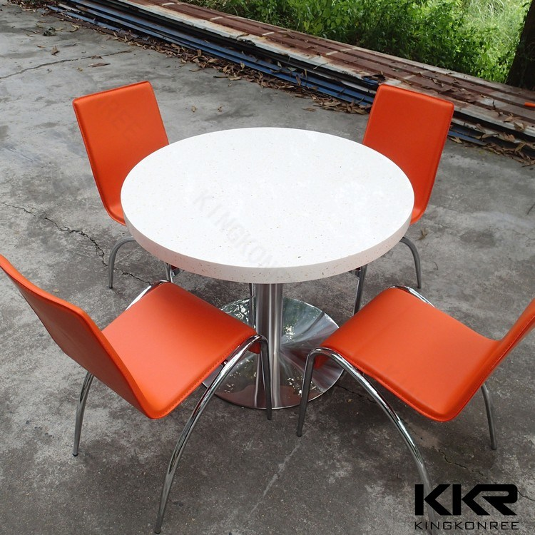 4 Seaters Round Dining Table for Restaurant and Coffee Shop