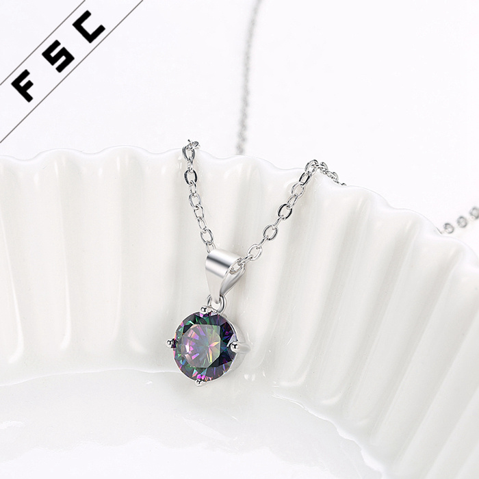 Women Newly Design Fashion Colorful Pendant Necklace as Promotion Gift