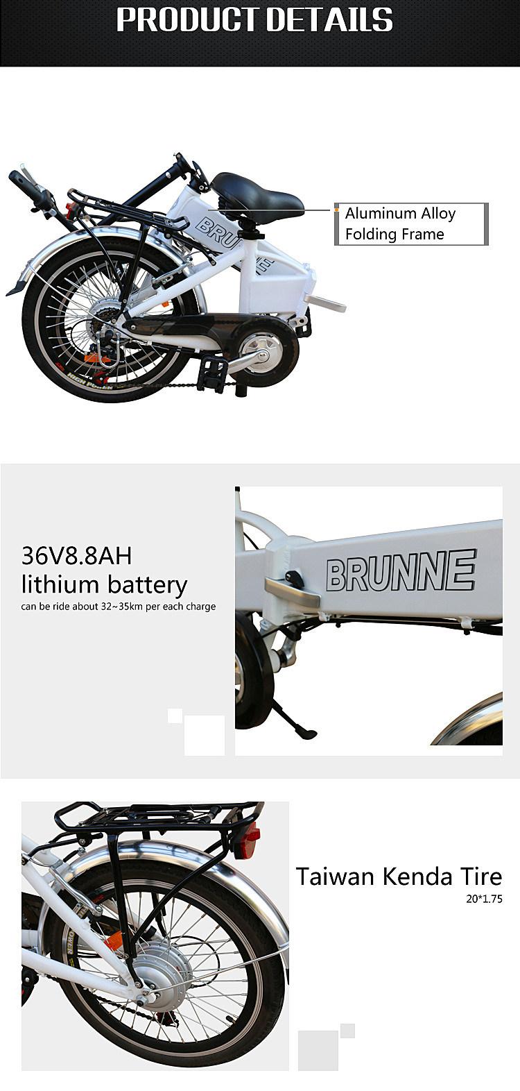 250W 36V Lithium Battery Mountain Ebike