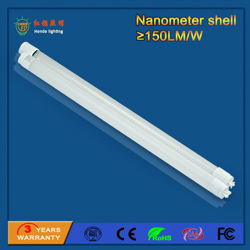 SMD2835 1200mm 18W 150lm/W T8 LED Tube for Parking Lot